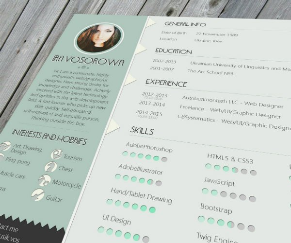 20+ Free Resume Design Templates for Web Designers Elegant Themes Blog - web design resume