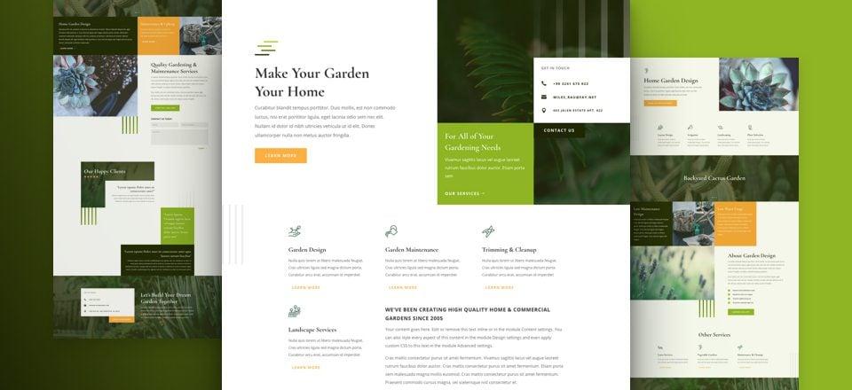 Get a FREE Gardener Layout Pack for Divi Elegant Themes Blog