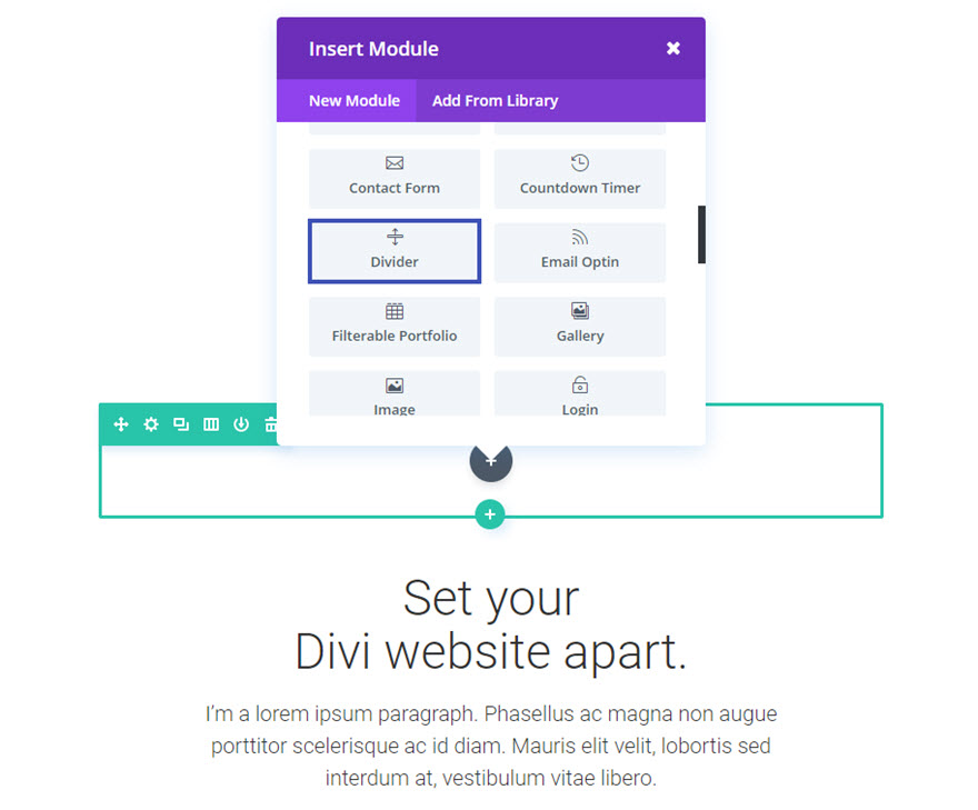 The Divi Divider Module Elegant Themes Documentation