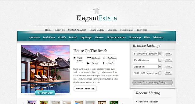 ElegantEstate Real Estate WordPress Theme