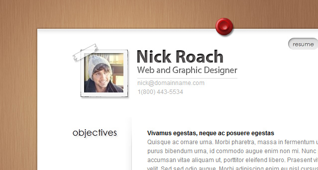 MyResume WordPress Theme - my resume com