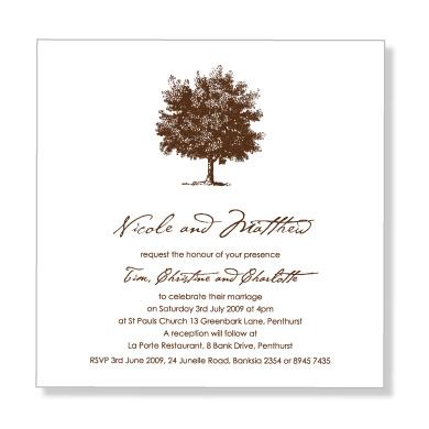 Formal Wedding Invitation Wording Etiquette (Parte Two - posh invitation wording