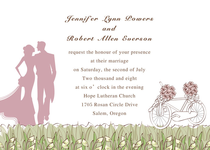Green and Pink Rustic Wedding Ideas and Wedding Invitations