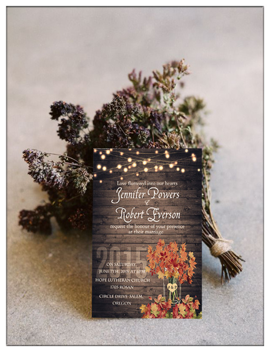 Top 10 Chic Country Rustic Wedding Invitations with RSVP Cards - free printable wedding rsvp cards