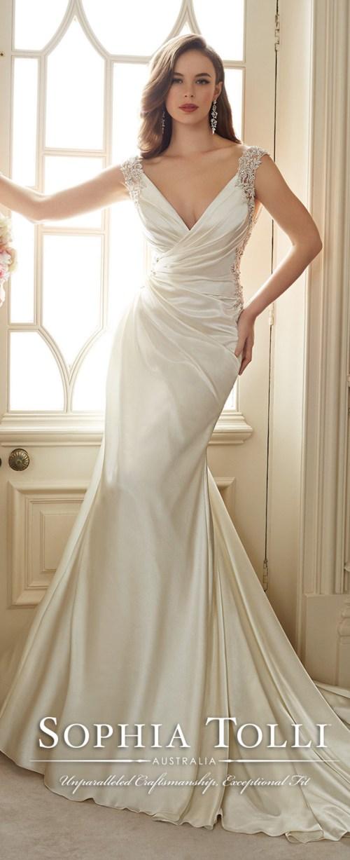 Medium Of Satin Wedding Dresses