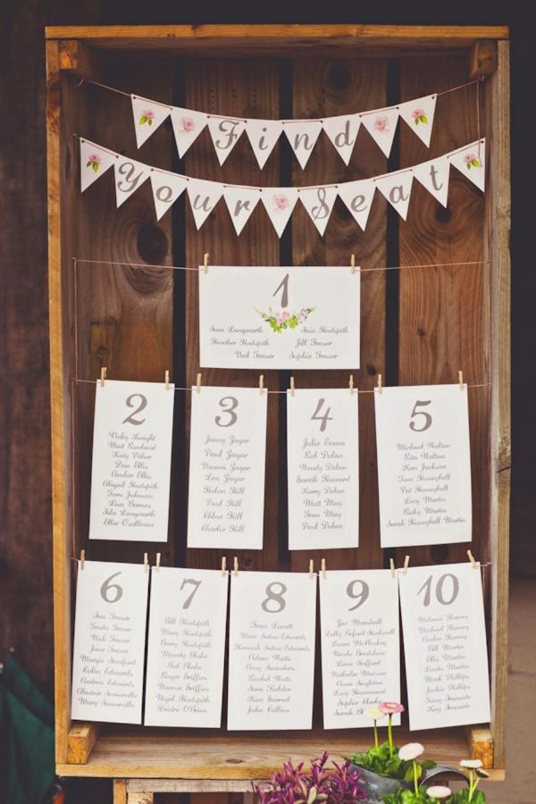 30 Most Popular Seating Chart Ideas for Your Wedding Day - wedding charts