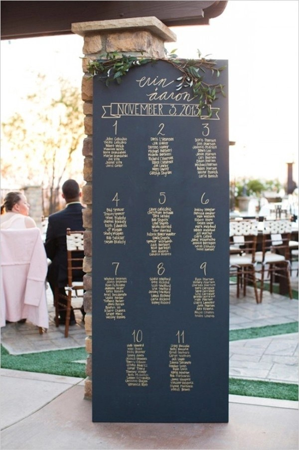 30 Most Popular Seating Chart Ideas for Your Wedding Day - seating charts for weddings
