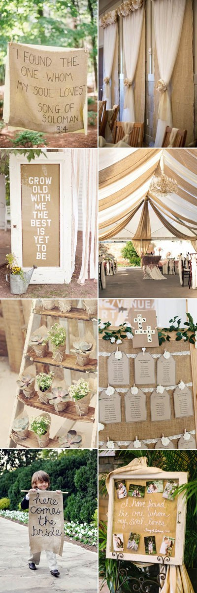 The Most Complete Burlap Rustic Wedding Ideas For Your ...