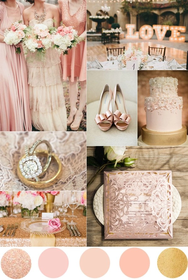 TOP 7 Amazing Pink And Gold Wedding Color Palettes - pink wedding photo