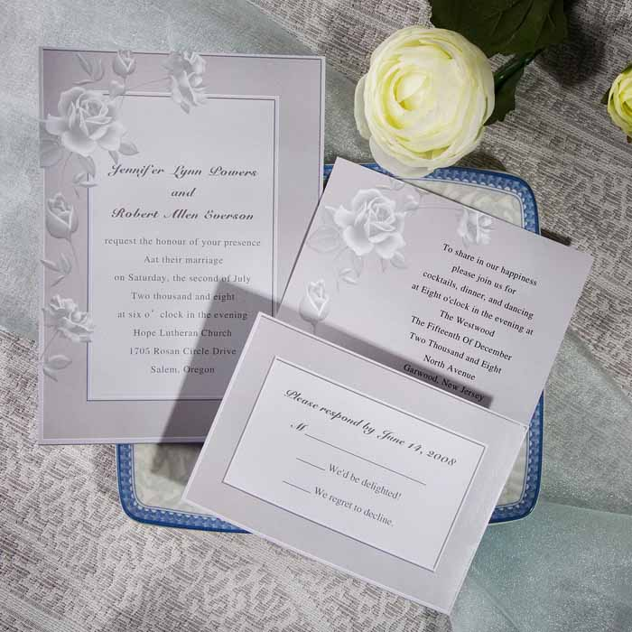 7 Popular Wedding Color Schemes for 2017 Elegant Weddings - formal dinner invitation sample