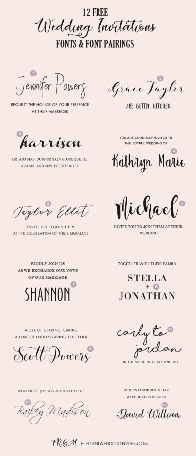 Wedding Invitation Font Pairing Guide with Free Killer ...