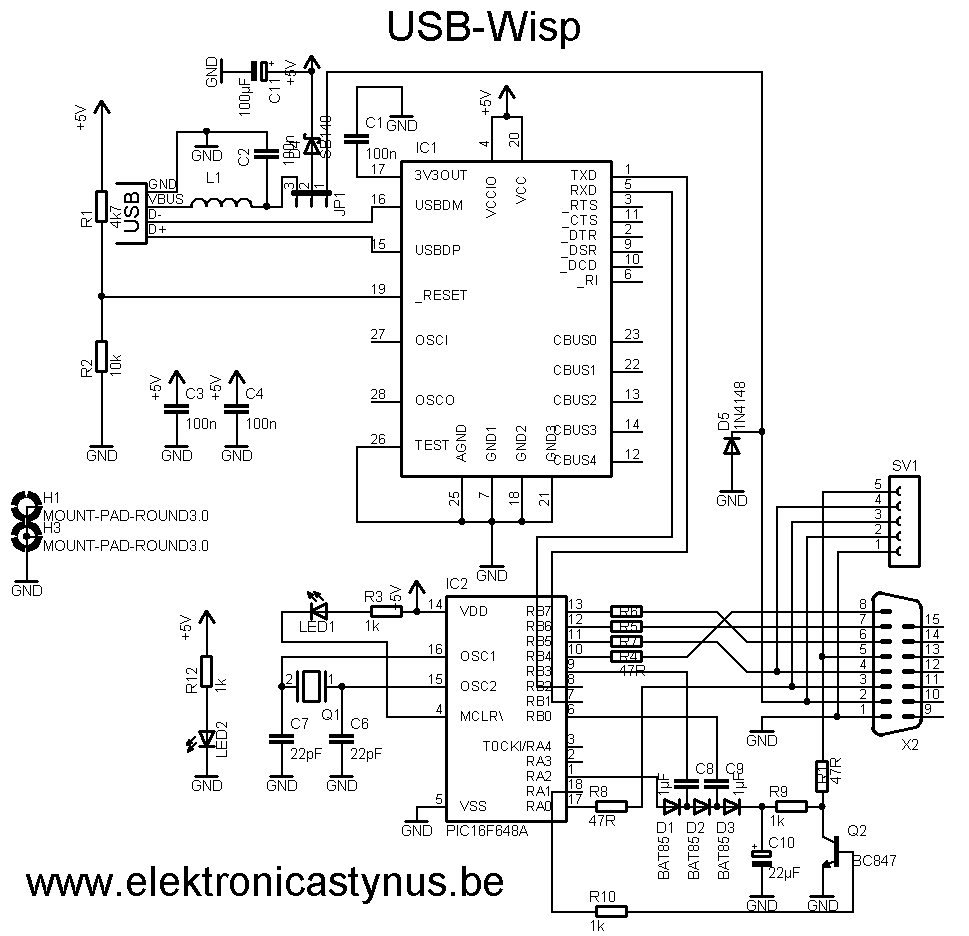 bedradings schema for usb to vga