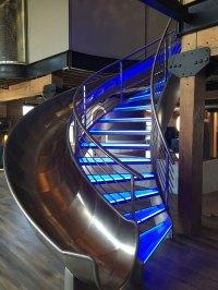 Edge-lit Spiral Staircase - Elemental LED