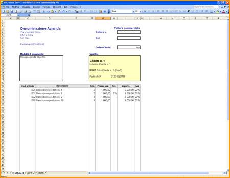 Modello Fattura in Excel (XLS) da Scaricare Gratis ElettroAffariit