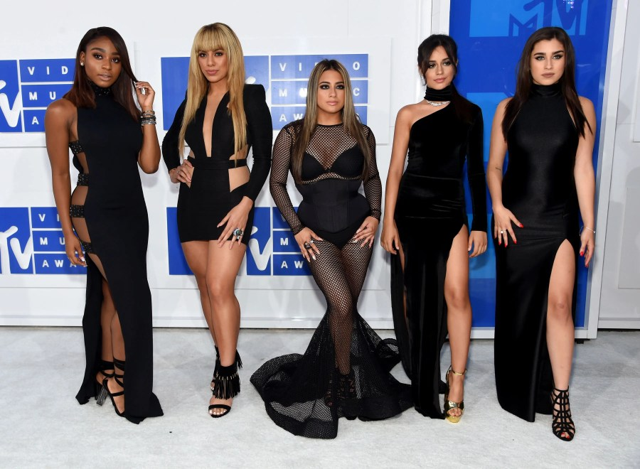 NEW YORK, NY - AUGUST 28: (L-R) Normandi Kordei, Dinah Jane Hansen, Ally Brooke, Camila Cabello and Lauren Jauregui of Fifth Harmony attend the 2016 MTV Video Music Awards at Madison Square Garden on August 28, 2016 in New York City. Jamie McCarthy/Getty Images/AFP