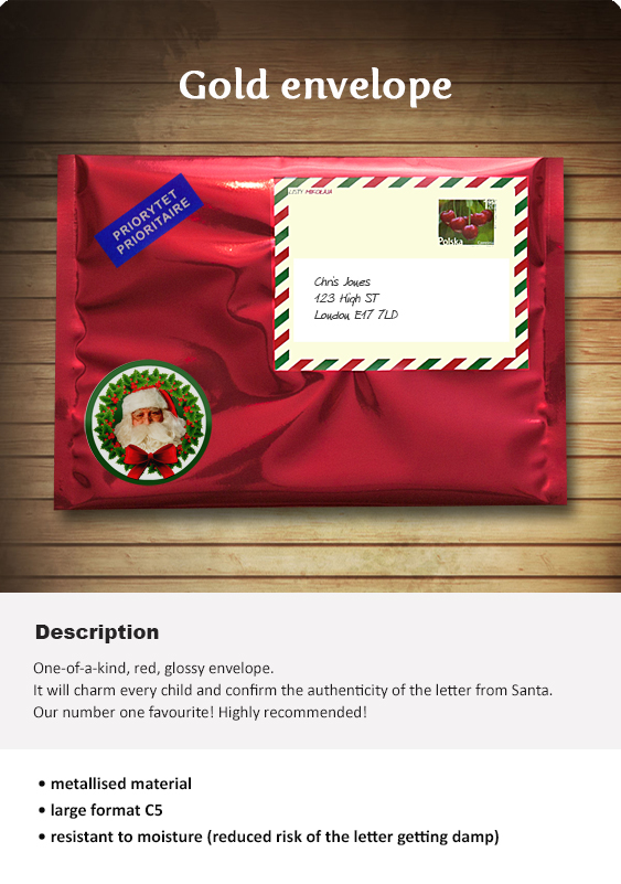 Letter From Santa - A Personalised Santa Letter Just For You