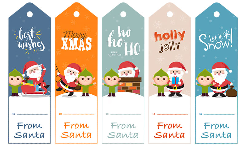 Free Secret Santa Gift Tags In Printable PDF No Registration