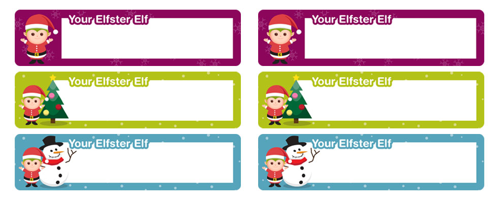 Christmas Return Address Labels Free Printable Elfster - printable return address labels free