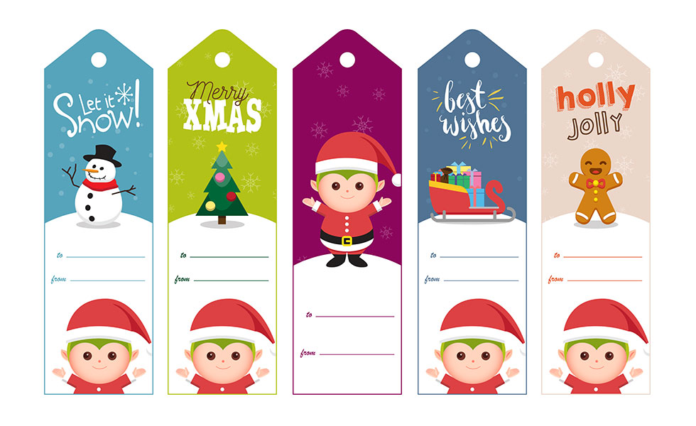 Christmas  Hanukkah To/From Gift Tag Free Printable Elfster