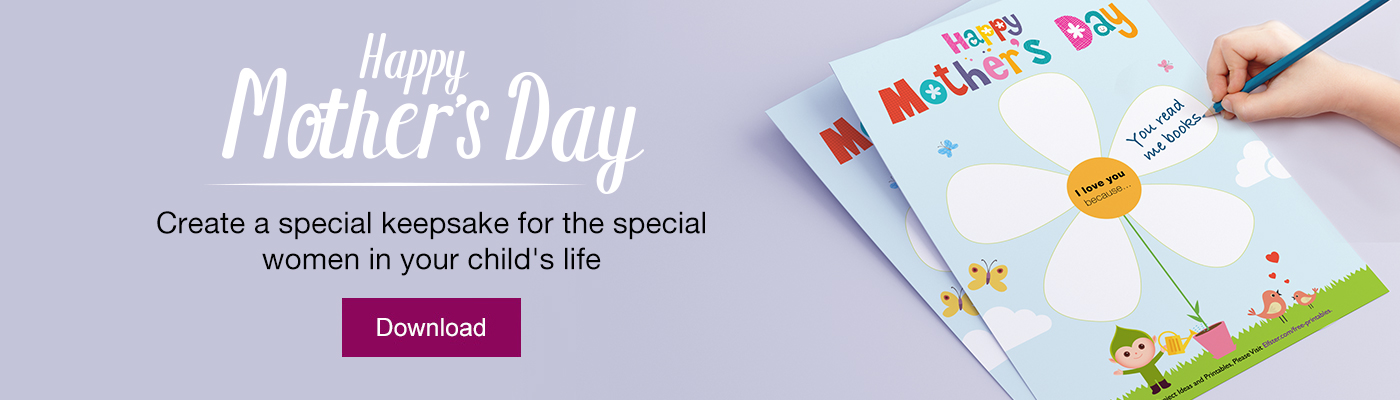 Mother\u0027s Day Free Printable Children\u0027s Craft Downloadable Online - online printable mothers day cards
