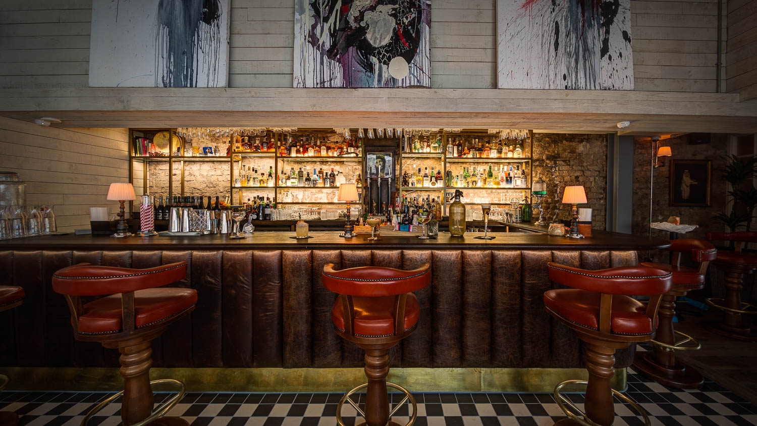 The Black Cat cocktail bar at award-winning restaurant El Gato Negro