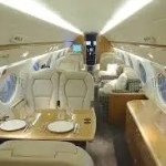 El lujoso avión con el que Peter Lim aterrizara en Valencia (foto)