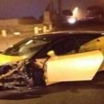 Un ex de la Masía estrella su Lamborghini contra un muro (foto)