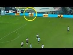 Aseguran ver un fantasma en el partido de Racing vs River >>> video