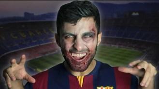 "El dispraz de ""Suarez mordedor"" que triunfa en Halloween (foto)"