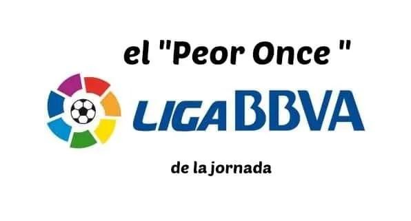 """El """"Peor Once"""" de la Liga - Jornada 12 (gráfico)"""