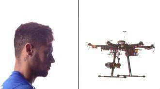 Neymar VS dron ¿Quién ganará? (Vídeo)