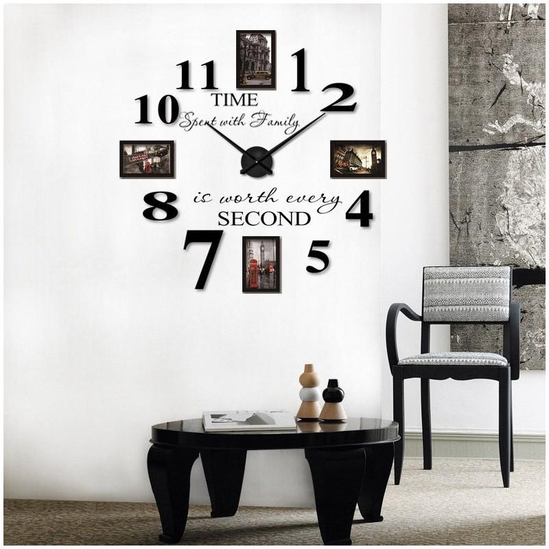 3d Clock Wallpaper Buy Diy 3d Acrylic Wall Clock With Frames I 108 At Elifor Pk