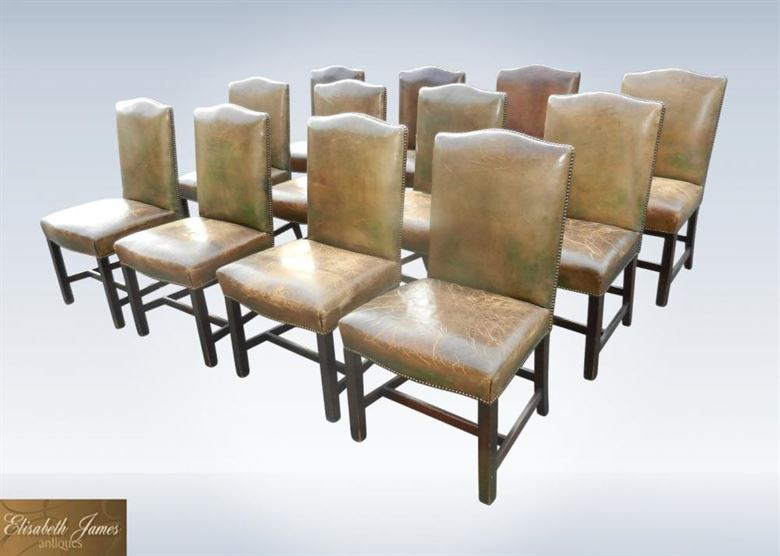 Sets 12 Antique Dining Chairs