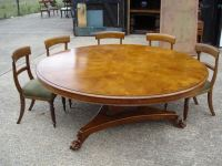 ANTIQUE FURNITURE WAREHOUSE - Large Round Dining Table ...