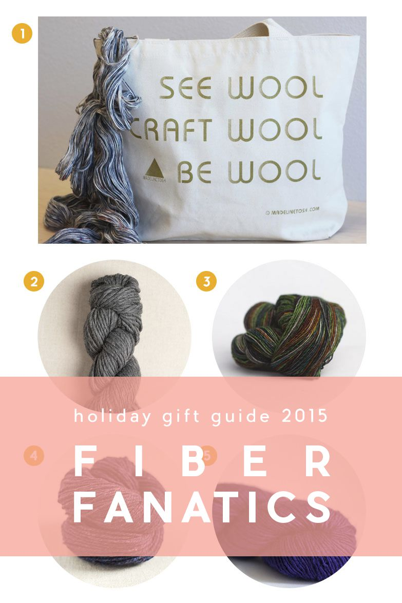 Holiday Gift Guide 2015 | 4 Easy Gift Ideas for Fiber Fanatics | It's that time again! Another round of holiday gift inspiration to guide you in finding that perfect gift for all types of fiber lovers in your life.