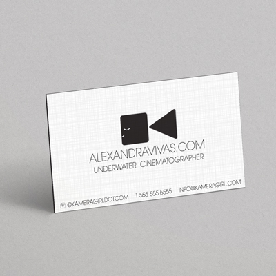 24pt Linen Business Cards Printed in Full Color with an array of