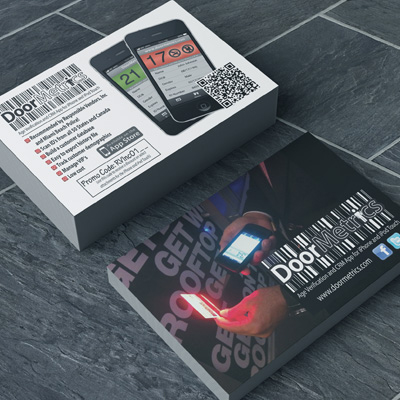 Short Run Flyer Printing in Full Color on Thick 16pt Card Stock by