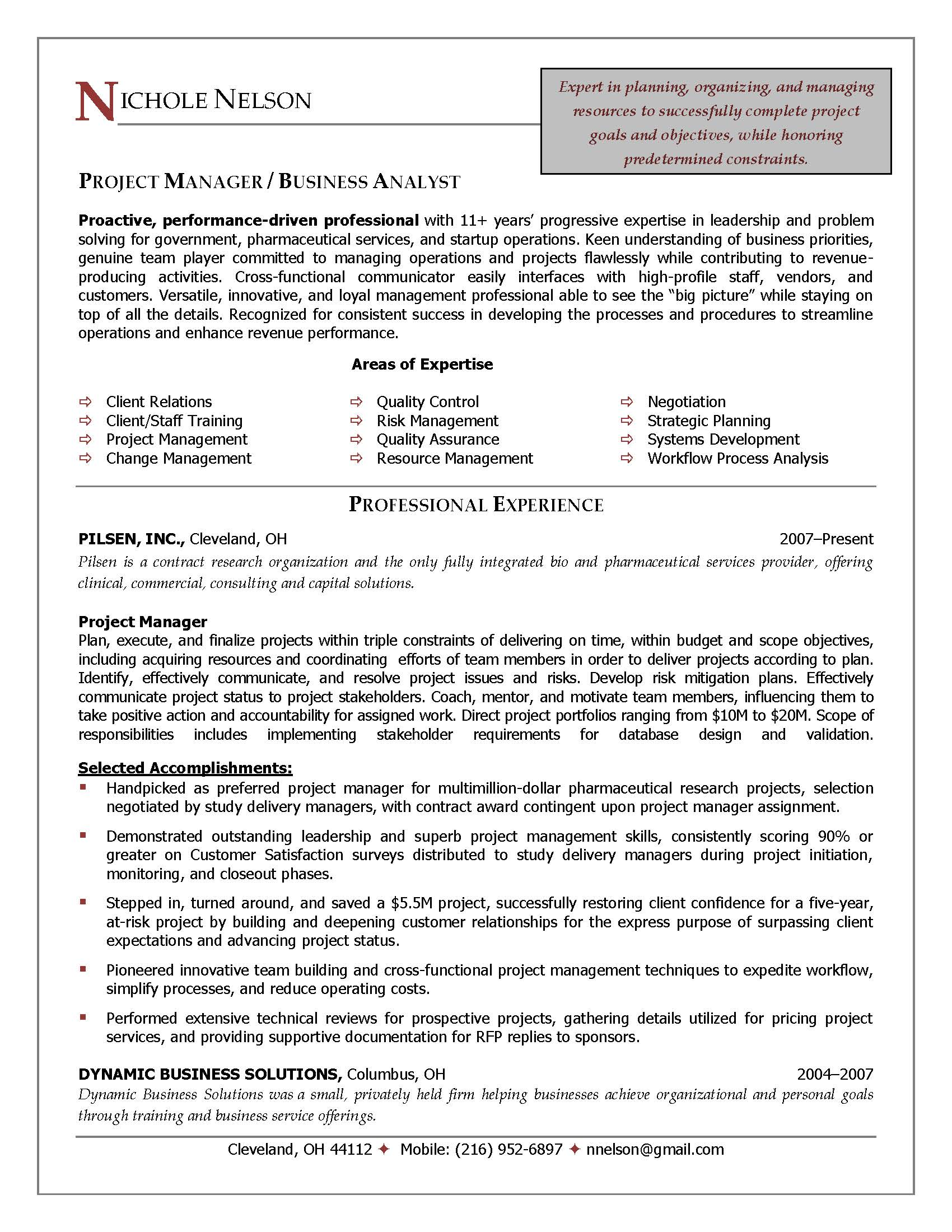 Application Project Manager Cover Letter Job Application Project