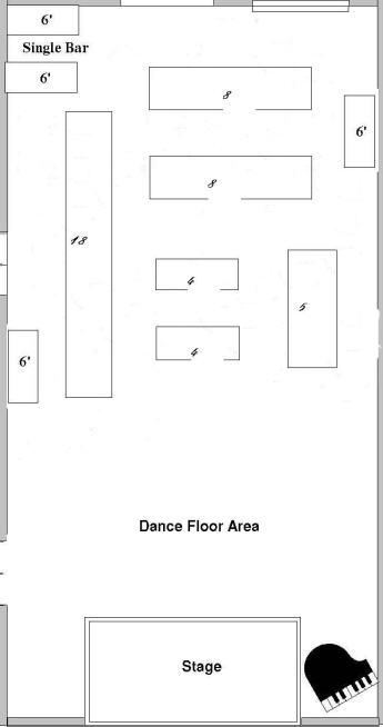 Choosing a Floor Plan for your Wedding Reception - wedding reception setup with rectangular tables