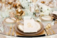 Gold Reception Table Place Setting - Elizabeth Anne ...