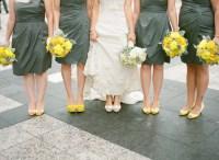 Gray Bridesmaids Dresses Yellow Shoes - Elizabeth Anne ...
