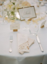 Gold and White Reception Table Setting - Elizabeth Anne ...