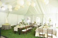 Cream Green and Taupe Tent Reception Decor Ideas ...