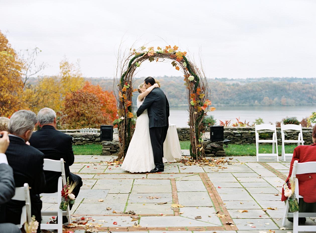 curly twig and orange floral wedding arbor wedding arbor Curly Twig and Orange Floral Wedding Arbor Elizabeth Anne Designs The Wedding Blog