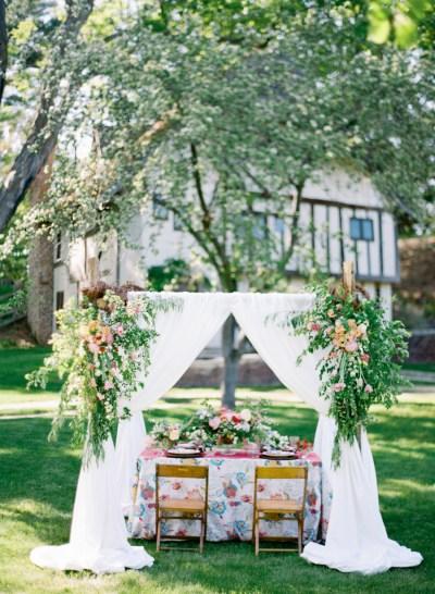 Colorful Garden Wedding Inspiration - Elizabeth Anne ...
