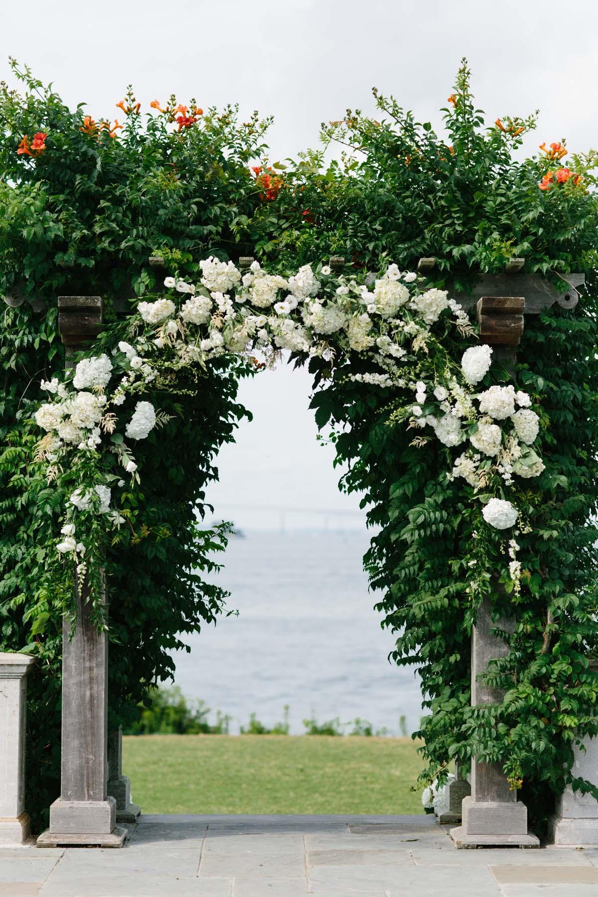 elegant outdoor wedding arbor wedding arbor Elegant Outdoor Wedding Arbor Elizabeth Anne Designs The Wedding Blog