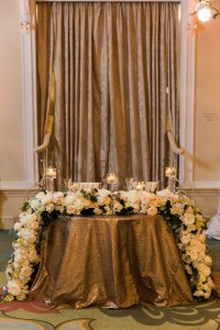 Sweetheart Table with Garland Centerpiece - Elizabeth Anne ...