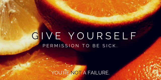 Permission to be sick