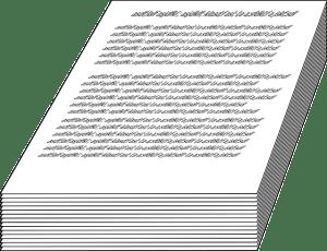 manuscript pile