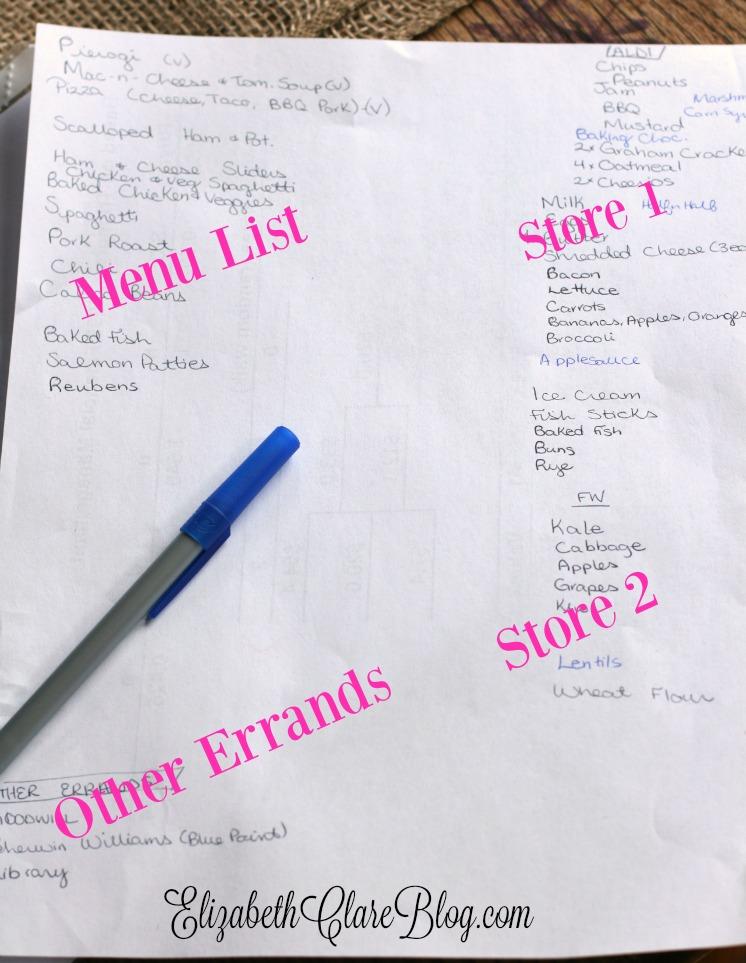 Biweekly Grocery Shopping - elizabeth clare